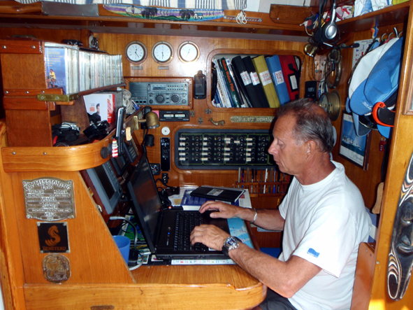 Skipper at work
